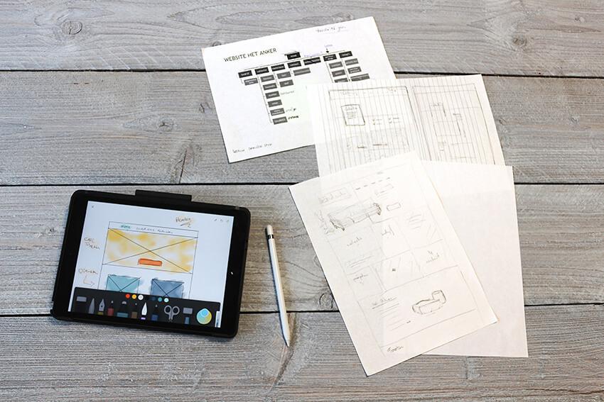 Webdesign maken? We beginnen met schetsen